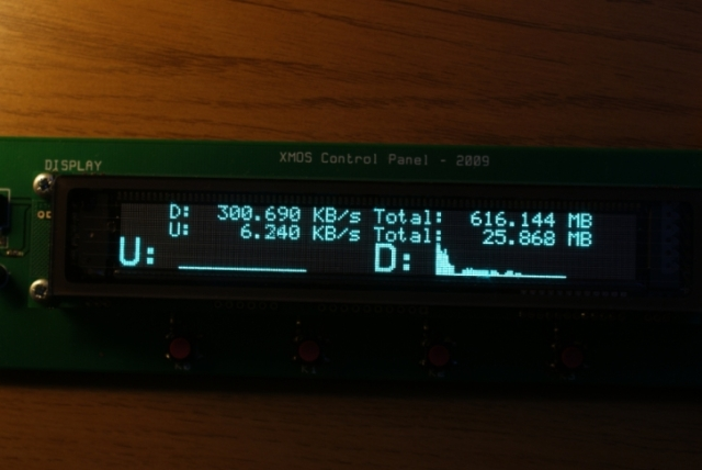 Network Monitor Display showing a graph and data rates